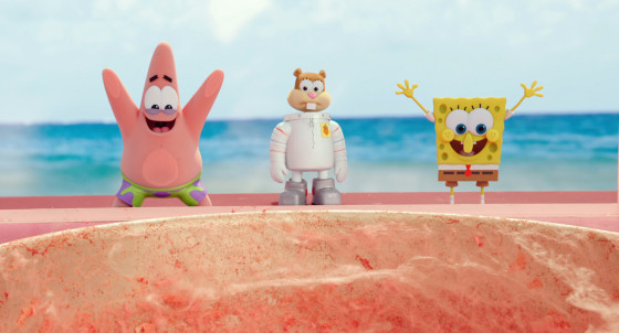 Paramount Pictures Animation Left to right: Patrick Star, Sandy Cheeks, and SpongeBob SquarePants in THE SPONGEBOB MOVIE: SPONGE OUT OF WATER, from Paramount Pictures and Nickelodeon Movies. (c) 2015 Paramount Pictures and Viacom International Inc. All Rights Reserved. SPONGEBOB SQUAREPANTS is the trademark of Viacom International Inc.